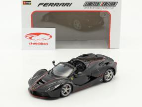 Ferrari LaFerrari Aperta 70th Anniversary Collection nero 1:24 Bburago