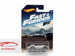 Chevrolet Corvette Grand Sport Roadster film Fast & Furious Five (2011) argent métallique 1:64 HotWheels