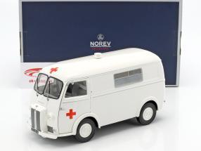 Peugeot D4B Ambulance year 1963 white 1:18 Norev