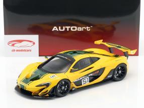 McLaren P1 GTR #51 Motorshow Genf 2015 gelb / grün / schwarz 1:18 AUTOart