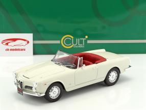 Alfa Romeo 2600 Spider Touring year 1961 white 1:18 Cult Scale