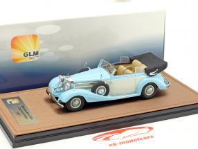 Mercedes-Benz 540K cabriolet B ouvert version année de construction 1937 bleu clair / blanc 1:43 GLM