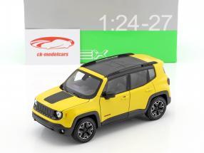 Jeep Renegade Trailhawk Baujahr 2016 gelb / schwarz 1:24 Welly