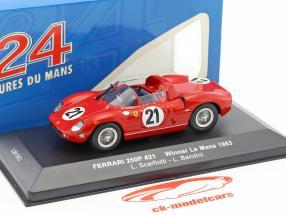 Ferrari 250P #21 gagnant 24h LeMans 1963 Scarfiotti, Bandini 1:43 Ixo