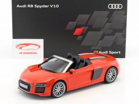 Audi R8 Spyder V10 dynamit rot 1:18 iScale