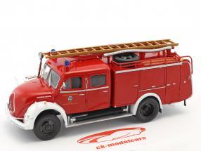 Magirus Deutz departamento de bomberos Pfaffenhofen rojo 1:43 Atlas