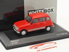 Renault 4 Clan anno di costruzione 1978 rosso 1:43 WhiteBox