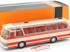 Neoplan NH 9L bus Opførselsår 1964 beige / rød 1:43 Ixo