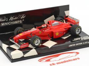 Eddie Irvine Ferrari F300 #4 formule 1 1998 lancer version 1:43 Minichamps
