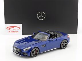 Mercedes-Benz AMG GT C Roadster anno di costruzione 2017 brillante blu metallico 1:18 Norev