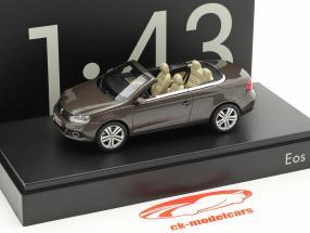Volkswagen VW Eos 2011 nero quercia metallico 1:43 Kyosho