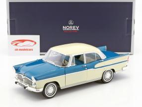 Simca Vedette Chambord année de construction 1960 tropique vert / chine ivoire 1:18 Norev