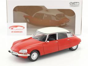 Citroen DS Special anno di costruzione 1972 rosso / bianco 1:18 Solido