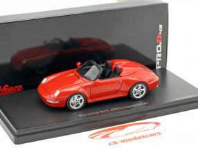 Porsche 911 (993) Speedster vermelho 1:43 Schuco