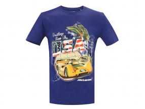 McLaren Greetings from USA Can-Am T-shirt bleu