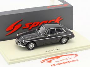 MGC GT year 1967 dark gray metallic 1:43 Spark
