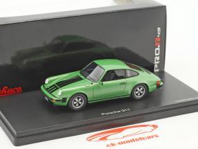 Porsche 911 coupe verde metallico 1:43 Schuco