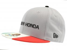 McLaren Honda formule 1 2017 Alonso & Vandoorne Special Edition Mexique Cap gris M/L