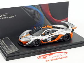 McLaren P1 GTR #01 Design Concept Car Pebble Beach 2014 argento / arancione 1:43 Almost Real