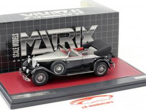 Mercedes-Benz 770K (W07) Cabriolet D year 1930 black / silver metallic 1:43 Matrix