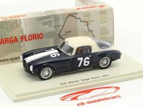 Lancia D20 #76 gagnant Targa Florio 1953 Umberto Maglioli 1:43 Spark