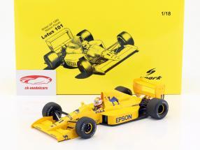 Nelson Piquet Lotus 101 #11 britannico GP formula 1 1989 1:18 Spark