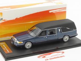 Lincoln Town Car Hearse year 1997 blue metallic 1:43 GLM
