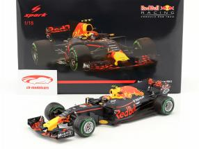 Max Verstappen Red Bull RB13 #33 3 ° porcellana GP formula 1 2017 1:18 Spark