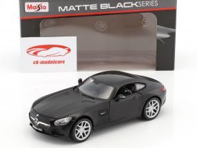 Mercedes-Benz AMG GT negro mate 1:24 Maisto