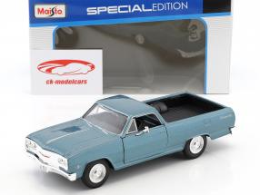 Chevrolet El Camino year 1965 blue metallic 1:24 Maisto