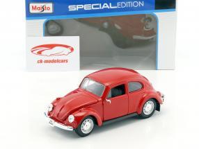 Volkswagen VW Beetle año 1973 rojo 1:24 Maisto
