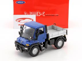 Mercedes-Benz Unimog blue / gray / black 1:32 Welly