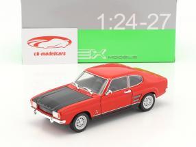 Ford Capri RS année de construction 1969 rouge / noir 1:24 Welly
