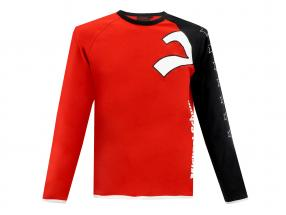 Michael Schumacher Long Sleeve Top 7 Stars red / black / White