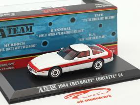 Chevrolet Corvette C4 Bouwjaar 1984 tv-serie The A-Team (1983-87) wit / rood 1:43 Greenlight
