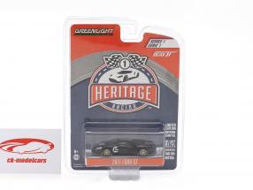 Ford GT Baujahr 2017 #2 Ford MK II 1966 Tribute Racing Heritage Series schwarz 1:64 Greenlight