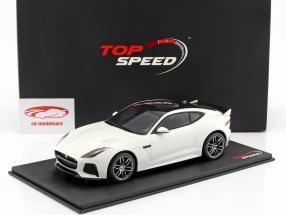 Jaguar F-Type R SVR year 2015 white 1:18 TrueScale
