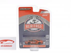 Ford GT year 2017 #3 Ford GT40 MK IV 1967 tribute Racing Heritage Series orange 1:64 Greenlight