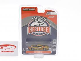Ford GT Baujahr 2017 #5 Ford GT MK II 1966 Tribute Racing Heritage Series kupfer 1:64 Greenlight