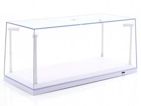 Unique vitrine blanc avec 4 Led lampes pour modelcars en échelle 1:18 Triple9