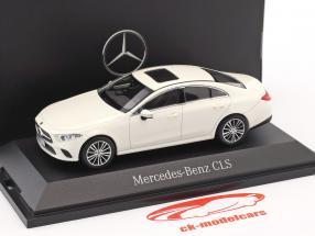 Mercedes-Benz CLS coupe (C257) ano de construção 2018 designo diamante branco 1:43 Norev