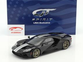 Ford GT year 2016 black / white 1:18 GT-Spirit