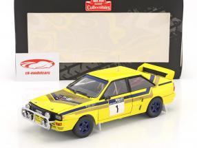 Audi Quattro A2 #1 vincitore Rallye Hong Kong - Beijing 1985 Mikkola, Hertz 1:18 SunStar