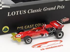 Emerson Fittipaldi Lotus 72D #1 French GP formula 1 1970 1:43 Quartzo