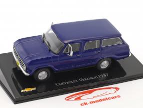 Chevrolet Veraneio Baujahr 1987 blau 1:43 Altaya