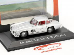Mercedes-Benz 300 SL (W198) año de construcción 1954 plata 1:43 Atlas