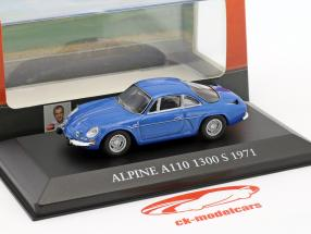 Alpine A110 1300S année de construction 1971 bleu 1:43 Atlas