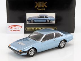 Ferrari 365 GT4 2+2 anno di costruzione 1972 azzurro metallico 1:18 KK-Scale