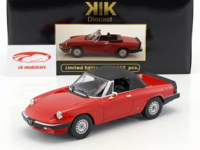 Alfa Romeo Spider 3 Serie 1 con removibile softtop anno di costruzione 1983 rosso 1:18 KK-Scale
