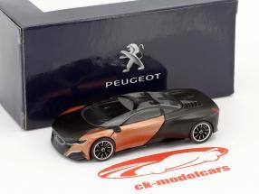 Peugeot Onyx Concept Car anno di costruzione 2012 tappetino nero / rame metallico 1:55 Norev